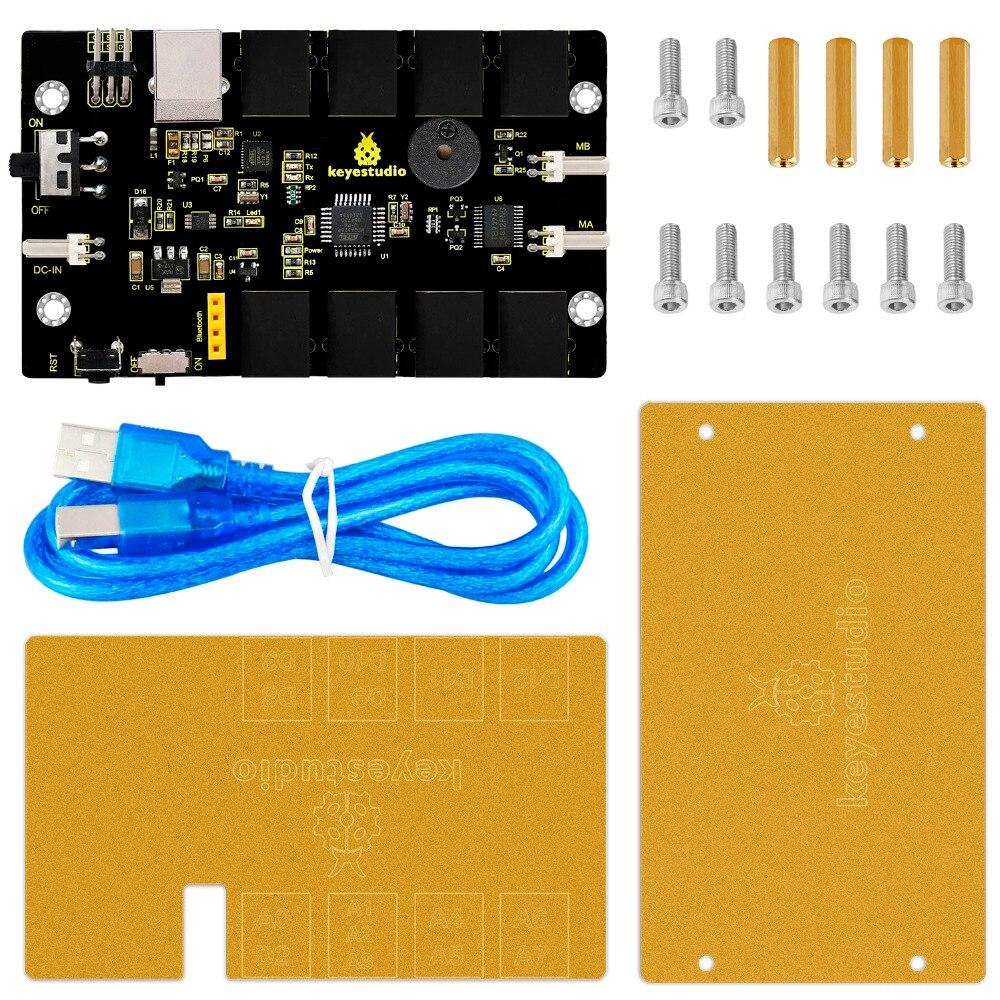 Keyestudio KEYBOT Coding Robot Control Board Kit for Arduino Robot Car