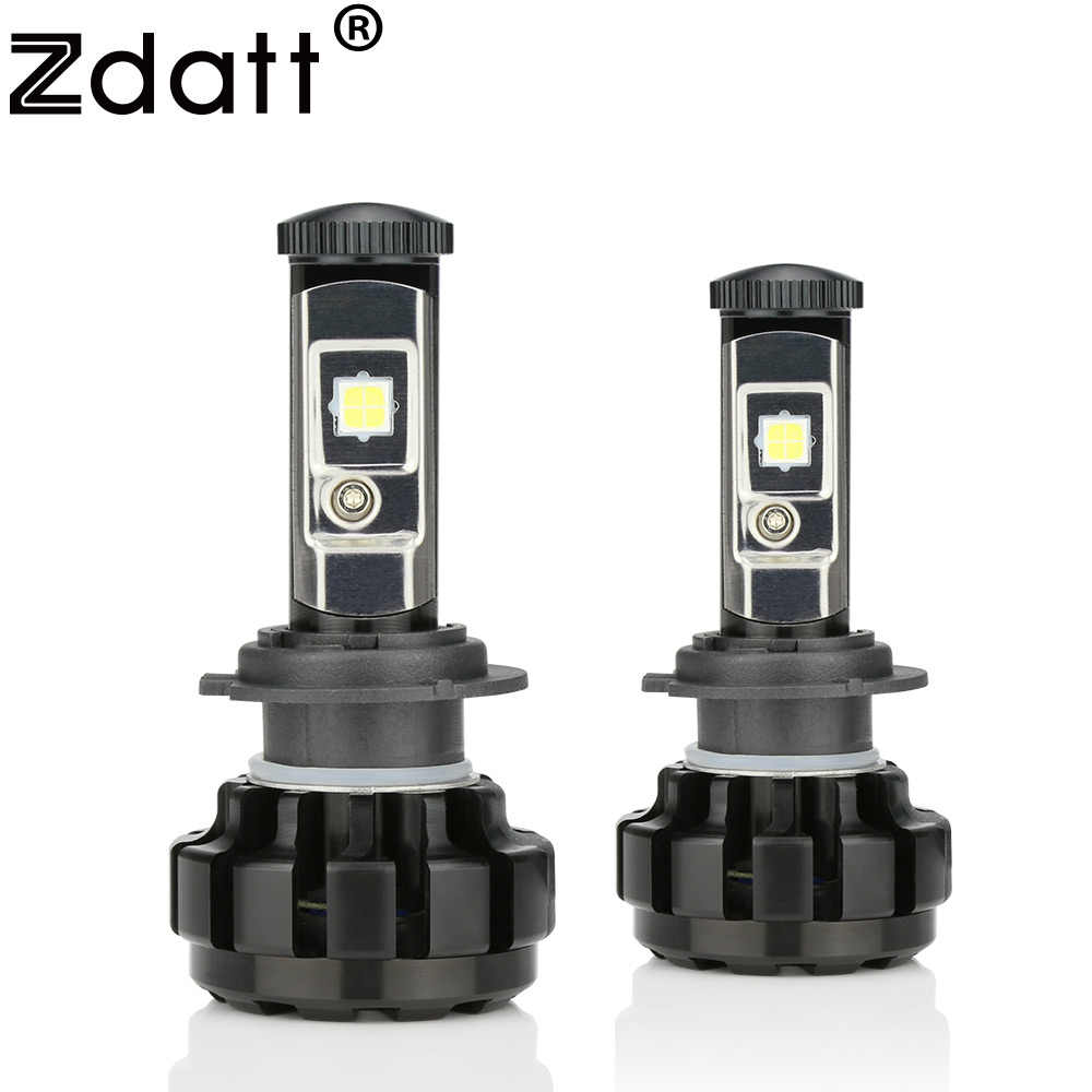 Zdatt H7 Led Bulb Canbus 14000LM 100W Headlight H4 H8 H9 H11 9005 HB3 Car Led Light 12V Headlamp Automobiles 6000K Error Free