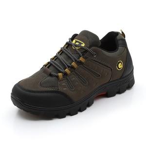 Image 2 - JXGXSX גברים של עבודה נעליים חיצוני נעלי ספורט גברים רשת נעלי החלקה ללבוש עמיד נעלי דיג זכר מדבר מגפי זרוק חינם
