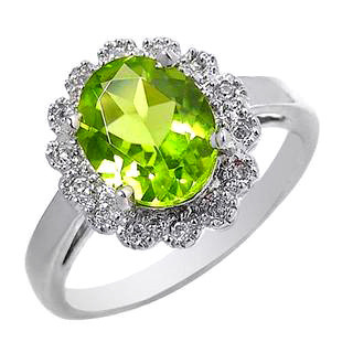 2 Carat Natural Peridot Ring 925 Sterling Silver Green Woman Fashion Fine Elegant Retro Jewelry Girl Lux Birthstone Gift SR0210P natural green peridot ring 925 sterling silver crystal rose gold plated woman fashion fine elegant jewelry queen birthstone gift