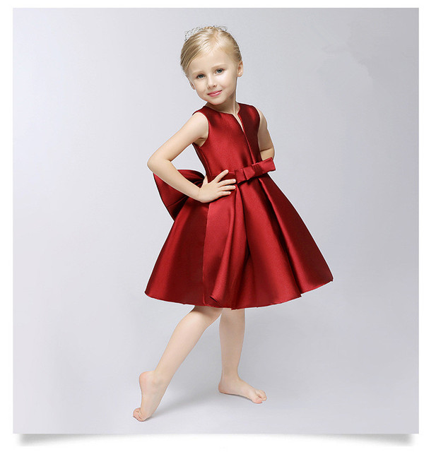 Aliexpress.com : Buy Girl's Party Red full dress Autumn Girls ...