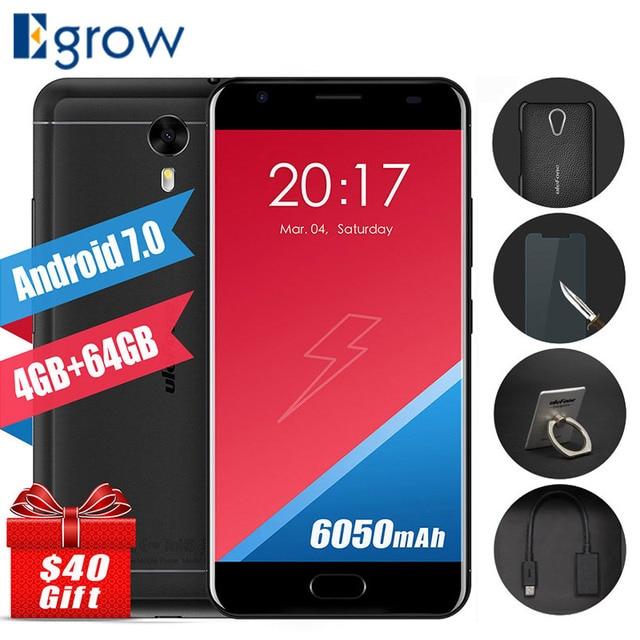 Оригинал Ulefone мощность 2 MTK6750T Octa Core сотовые телефоны android 7.0 5.5 дюймов мобильный телефон 4 г ОЗУ 64 г ROM OTG Touch ID смартфон