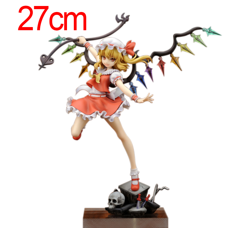 24cm TouHou Project Flandre Scarlet PVC Action Figure Collectible Model Toys Brinquedos free shipping 10 touhou project anime sister of the devil flandre scarlet boxed 24cm pvc action figure collection model doll