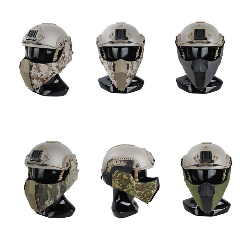 Tactical Helmet Guide Rail Connection Half Face Mask for OC Highcut Maritime HelmetTactical Helmet Guide Rail Connection Half Face Mask for OC Highcut Maritime Helmet