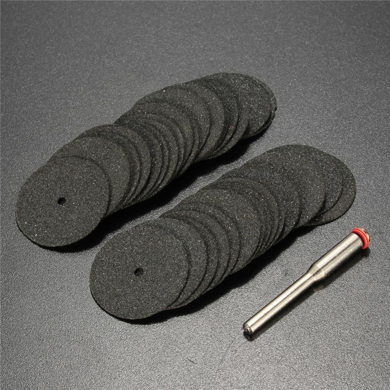 36pcs 24mm Resin Cut-off Wheel Cutting Disc Kit For Dremel Rotary Hobby Tool Bit Dremel Accessories +1pc Mandrel