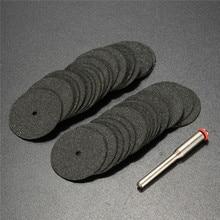 36pcs 24mm Resin Cut off Wheel Cutting Disc Kit For Dremel Rotary Hobby Tool Bit Dremel Accessories +1pc Mandrel
