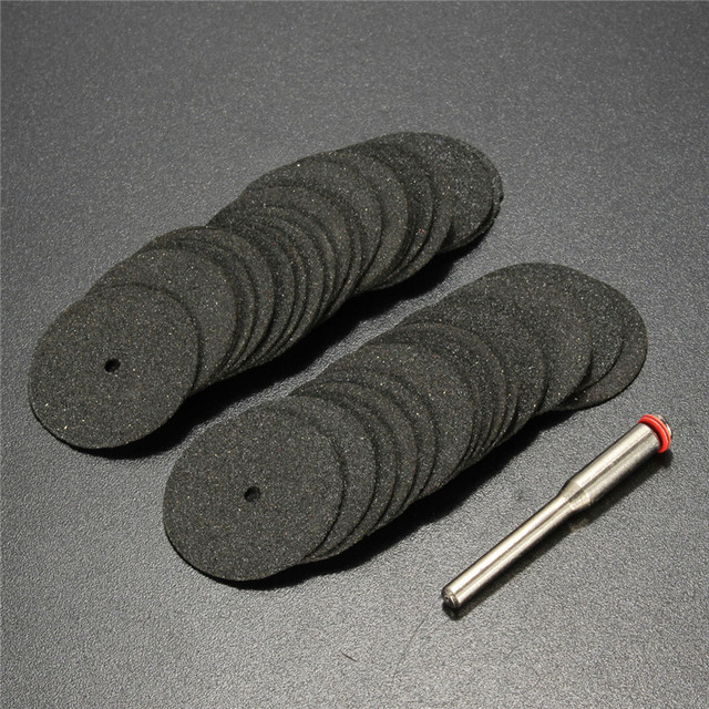 36pcs 24mm Resin Cut off Wheel Cutting Disc Kit For Dremel Rotary Hobby Tool Bit Dremel Accessories +1pc Mandrel