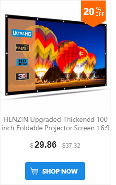 HENZIN 40 дюймов 16:9 мини настольный проектор экран HD Матовый белый портативный Настольный проекционный экран для светодиодный/lcd/DLP проекторы