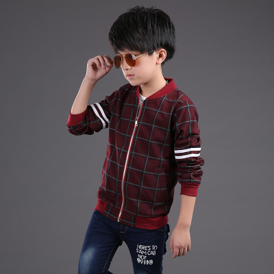 5b6edaa406184 2019 New Children s Clothing Outerwear Boys Smart Casual Plaid Jacket Kid  Fashion Leisure Clothes Spring   Fall Trench Coat G727