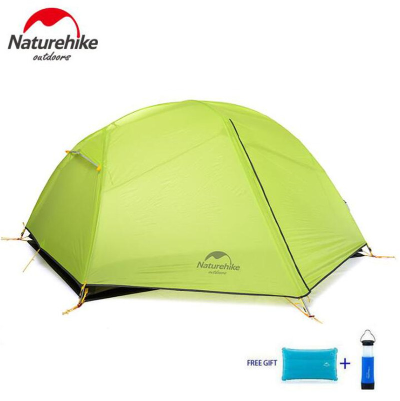 NatureHike Paro Outdoor Hiking Tent Camping 2 Person Waterproof Double Layer Outdoors Camping Durable Gear Picnic Tents dhl free shipping naturehike factory sell double person waterproof double layer camping durable gear picnic tent 20d silicone page 3