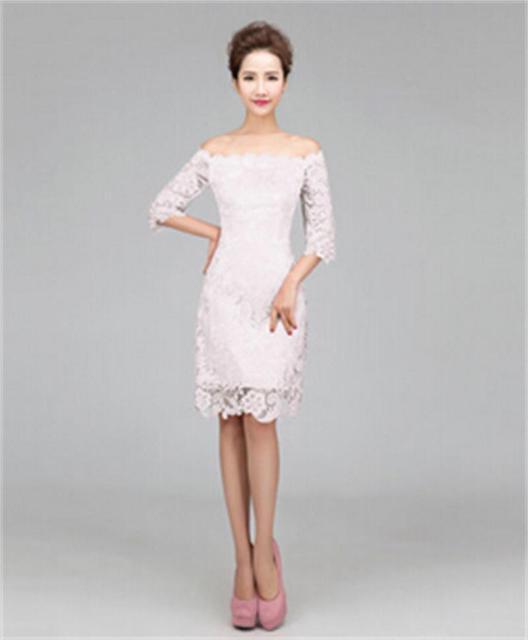 Vestido de noche corto blanco de fiesta 2015 Formal elegante Sexy ...