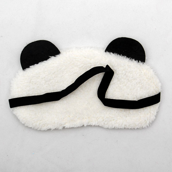 Free Shipping Panda Sleeping Eye Mask Nap Eye Shade Cartoon Blindfold Sleep Eyes Cover Sleeping Travel Rest Patch Blinder