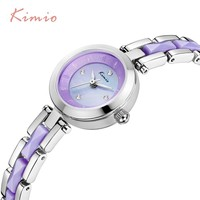 KIMIO Color Watches Women Fashion Watch 2017 Ladies Metal Watch Bracelets Clock Women Dress Rhinestone Luxury