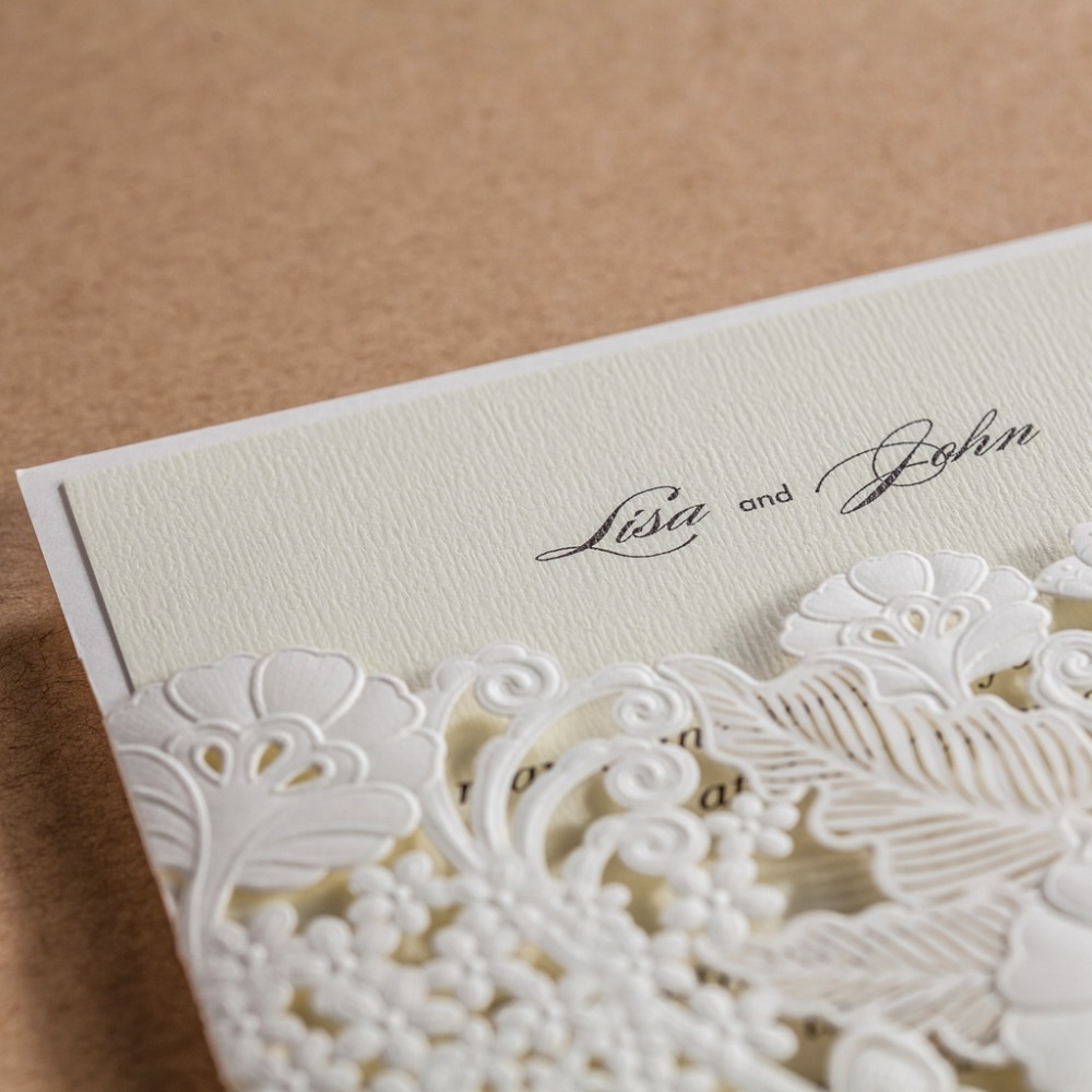 cw5179 white royal wedding invitation card/ greeting card with laser ...