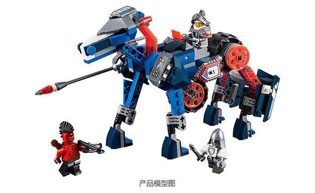 Рыцари Блоки лэнса Мех Лошадь Jestro Копье Работоспособна Цифры Совместимо Nexus Legoelieds (без оригинальной коробке)