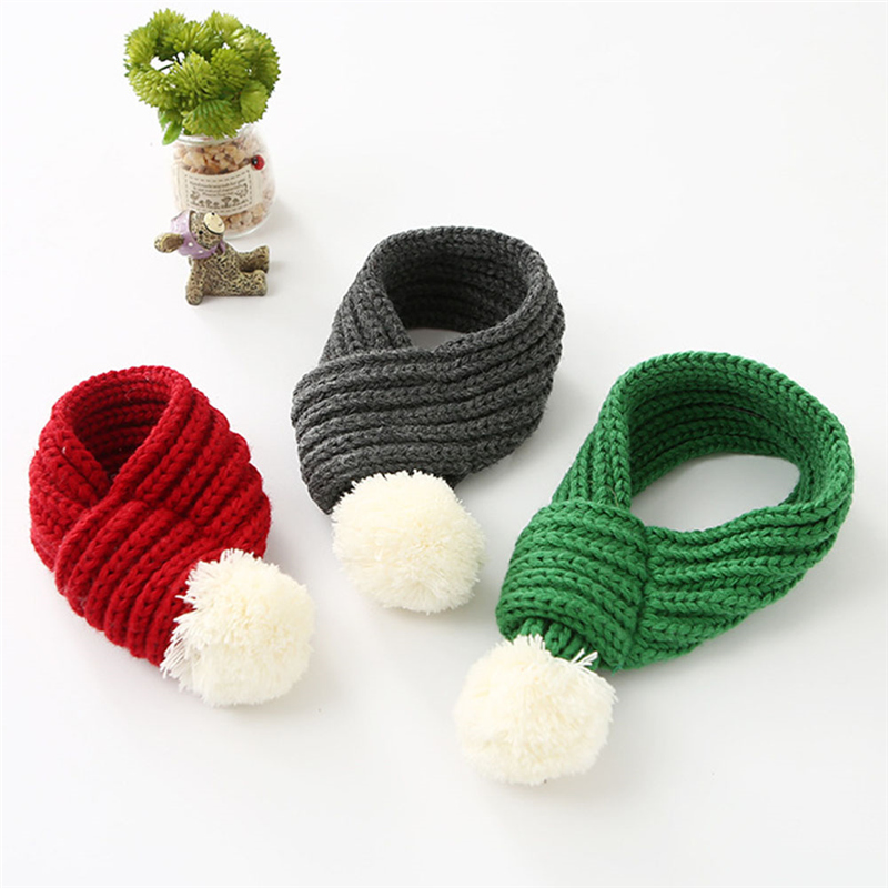 Aliexpress.com : Buy Pet Supplies Knitted Furry Dog Cat Scarf Solid ...