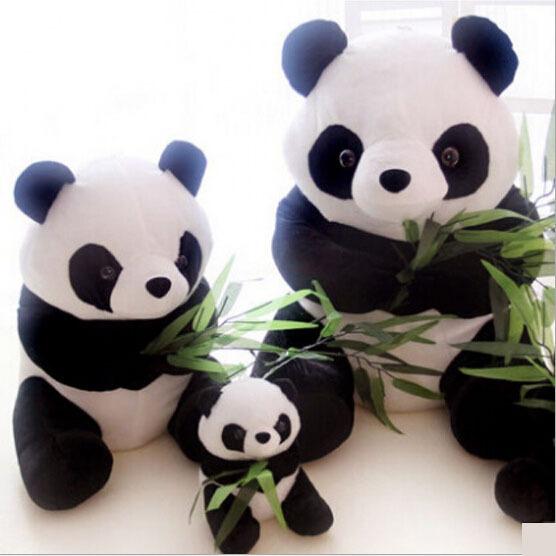 2015 Venta Caliente 30 CM Envío Libre Rápido de Peluche Muñecas Encantadora Panda Tesoro Nacional Panda Juguetes de Peluche de Alta Calidad PT132