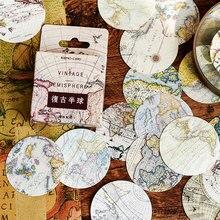 46 Pcs/box vintage hemisphere paper sticker DIY decoration stickers diary photo album scrapbooking planner label