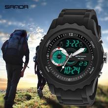 2019 SANDA Watches Men Relojes Military Sports Waterproof Electronic LED Digital Wristwatch Male Clock Watch Relogio Masculino