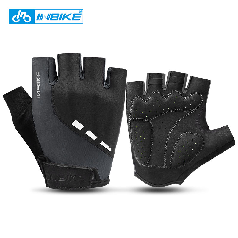 INBIKE Cycling Gloves Half Finger Anti Slip Breathable Motorcycle MTB Road Bike Gloves Men Women Outdoor Sports Bicycle Gloves