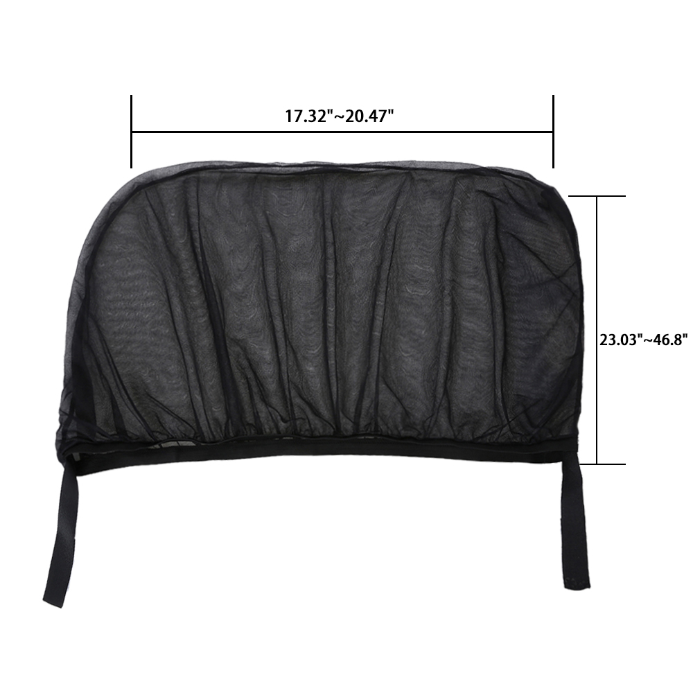 2pcs Black Car Rear Side Window Mesh Sun Visor Shade Cover Shield UV Protector Mesh in Side Window from Automobiles Motorcycles