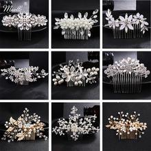 Модные гребни для волос miallo с цветами и кристаллами свадебные