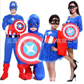 Хэллоуин Костюмы для Детей Дети одежда Супергерой Капитан Америка Косплей Костюм С Длинным Рукавом мальчики девочки Комплект Одежды