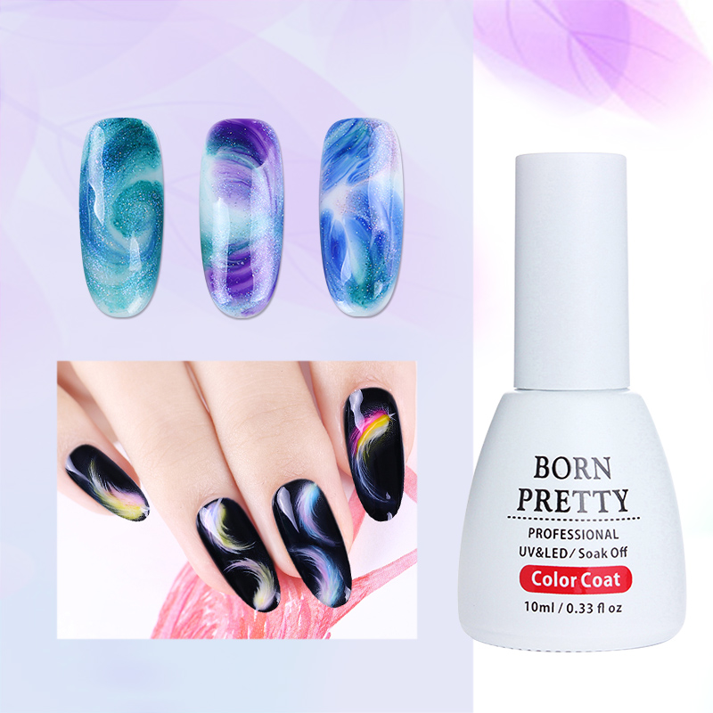 BORN PRETTY 3Pcs 10ml White Clear Painting Blooming Gel Long Lasting Soak Off UV Blossom Color
