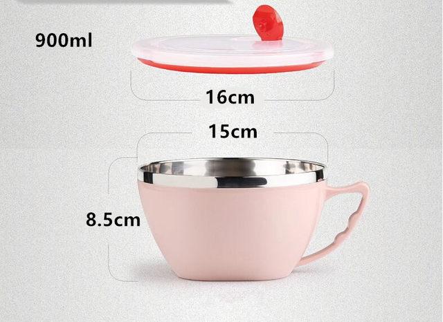 Online Shop Stainless Steel Large Capacity Mug Instant Noodles Bowl ...