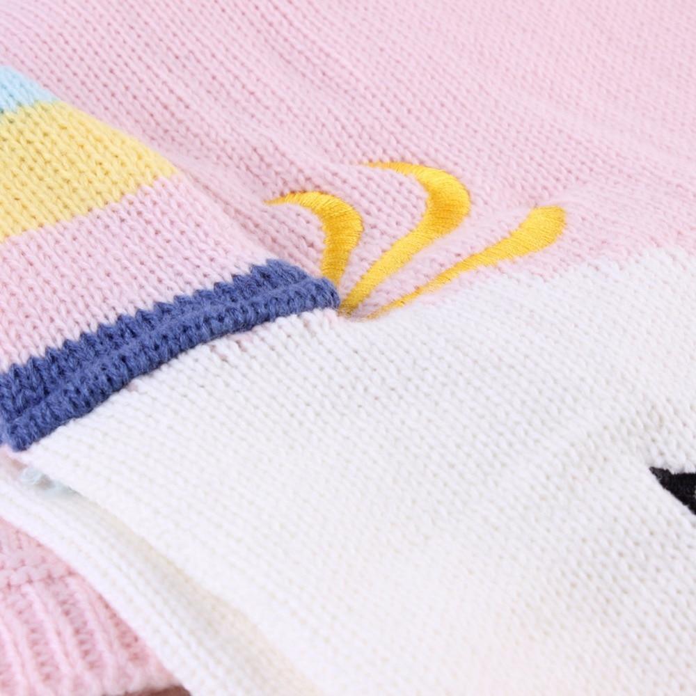 Nosii infantil bebé suave manta de punto unicornio crochet de lana ...