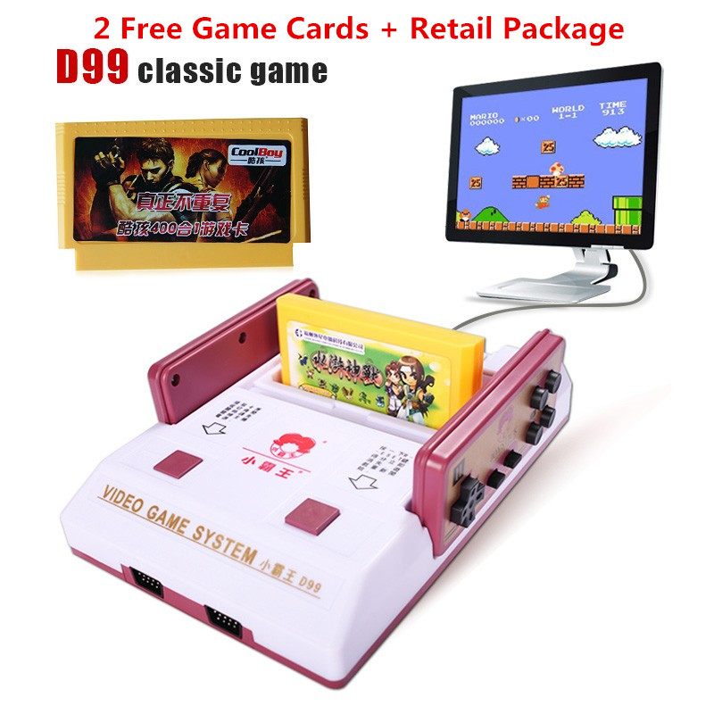 Baby D99 TV player Video Console Red white classic Game