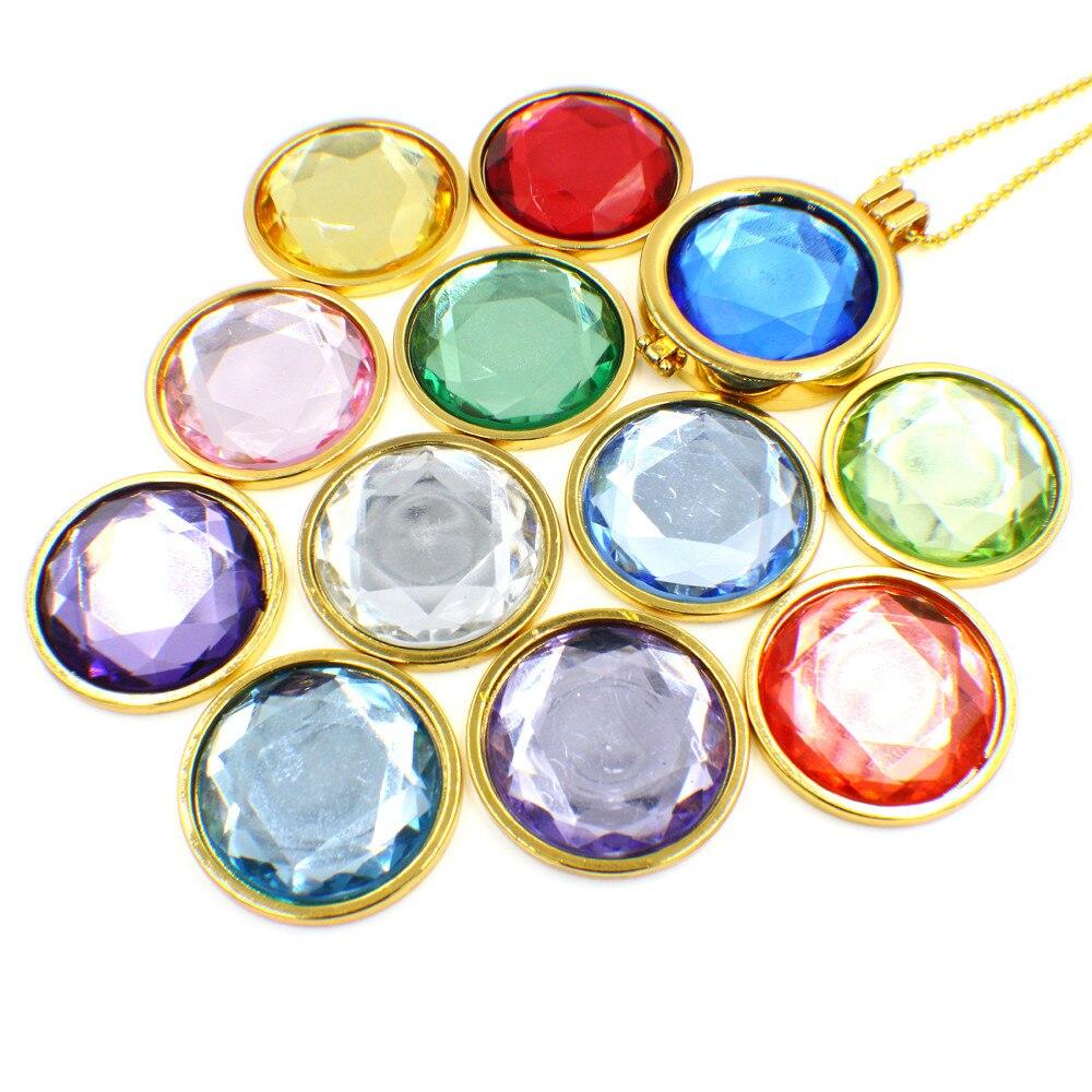 1 set ! Sliver/rose gold/gun black/gold Coin Holder Frame birthstone Pendant Locket Frame Luxury Necklaces & Pendants free pads