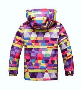 Image 2 - 방수 색인 5000mm Windproof 아기 소녀 자 켓 어린이 코트 따뜻한 폴라 양 털 어린이 겉옷 3 12 년 오래 된