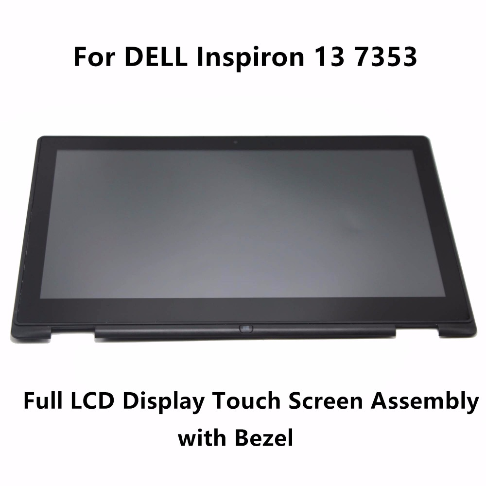 13.3'' For Dell Inspiron 13 7352 7353 FHD LTN133HL06-201 Laptop Full LCD Display Touch Screen Panel Digitizer Assembly + Frame free shipping b156xtk01 0 n156bgn e41 laptop lcd screen panel touch displayfor dell inspiron 15 5558 vostro 15 3558 jj45k