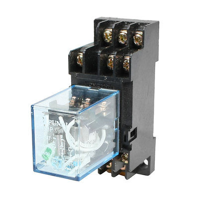 цена на HH53P DC24V/DC12V/AC110V/AC220V  Coil 3PDT 11 Pins Electromagnetic Power Relay w DYF11A Base
