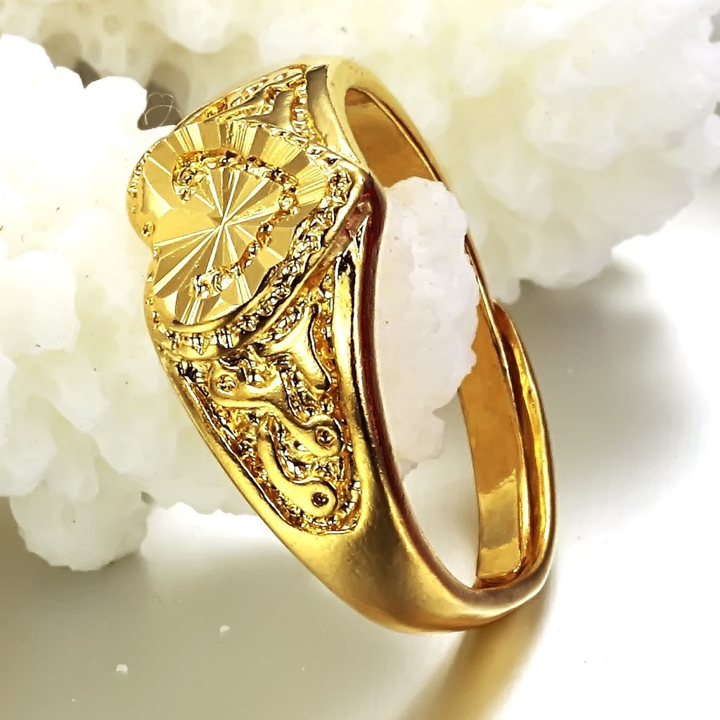 Ebay Hot Models American Jewelry Plating 24 Carat Gold Heart Shaped Hollow Ring Opening Size Free Shipping Ms In Rings From Accessories On