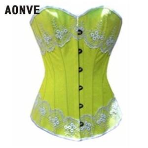 Image 2 - Aonve Body Shaper เอวรัดตัวชุดชั้นในสีชมพูน่ารัก Overbust Corsets และ Bustiers Appliques Shapewear Shapers Shapwears