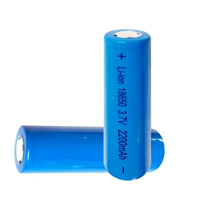 5pcs 18650 Battery 3.7V 2200mAh Rechargeable li-ion battery Flat Head for Power Bank Led flashlight Battery 18650