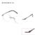 2016 ENGEYA Óptico Lente Clara Óculos De Armação de Prescrição Óculos Sem Aro Miopia Armações de Óculos de Olho Para As Mulheres Dobradiça Original #8034