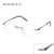 2016 ENGEYA Optical Glasses Clear Lens Gafas de Prescripción Sin Montura Miopía Ojo Marcos de Los Vidrios Para Las Mujeres Únicas Bisagra #8034