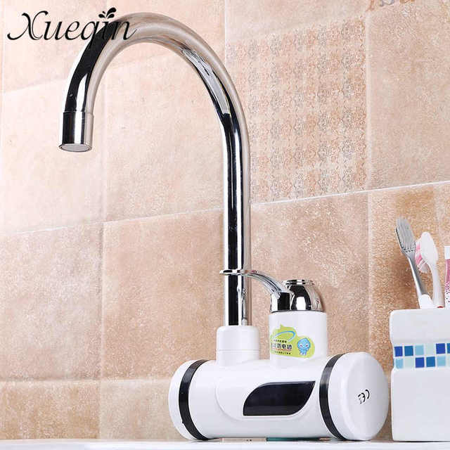 Basin Faucets Electric Bathroom Water Heater Instant Heating Faucet Digital  Display Bathroom Sink Tap Leakage Protection