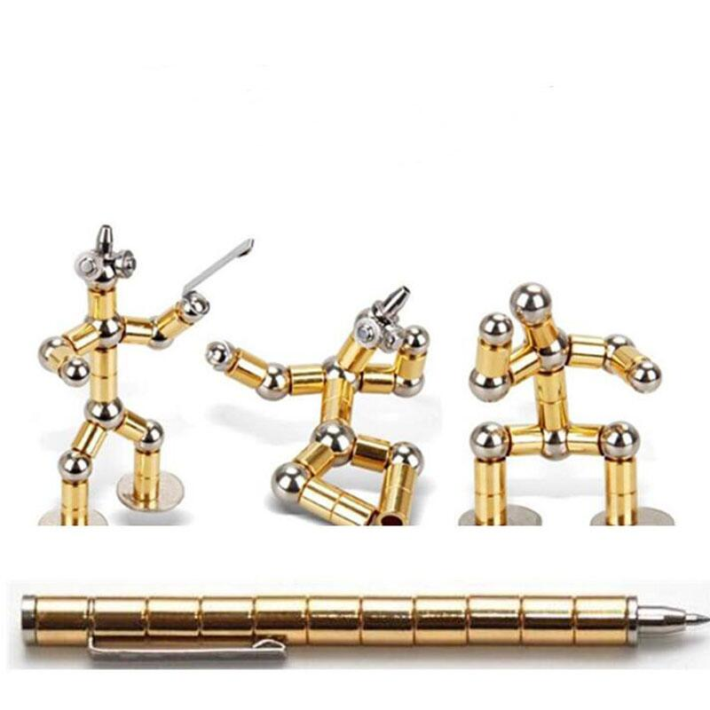 2019 Magnetic Pen Creative Polar Capacitor Magnet Pen Funny Toy Fidget Spinner Antistress Fidget ballpoint roller Pen plumas creative hot dog style ballpoint pen w magnet yellow red