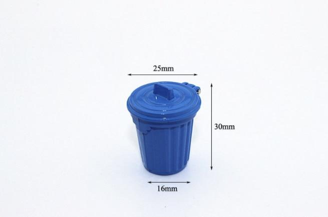 1 stks/set kawaii 1:12 miniatuur vuilnisbak/prullenbak simulatie