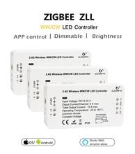 For 5050 led tape DC12V - 24V ZIGBEE bridge Led Controller Zigbee Light Link Warm white / white LED dimmer ZLL phone app control