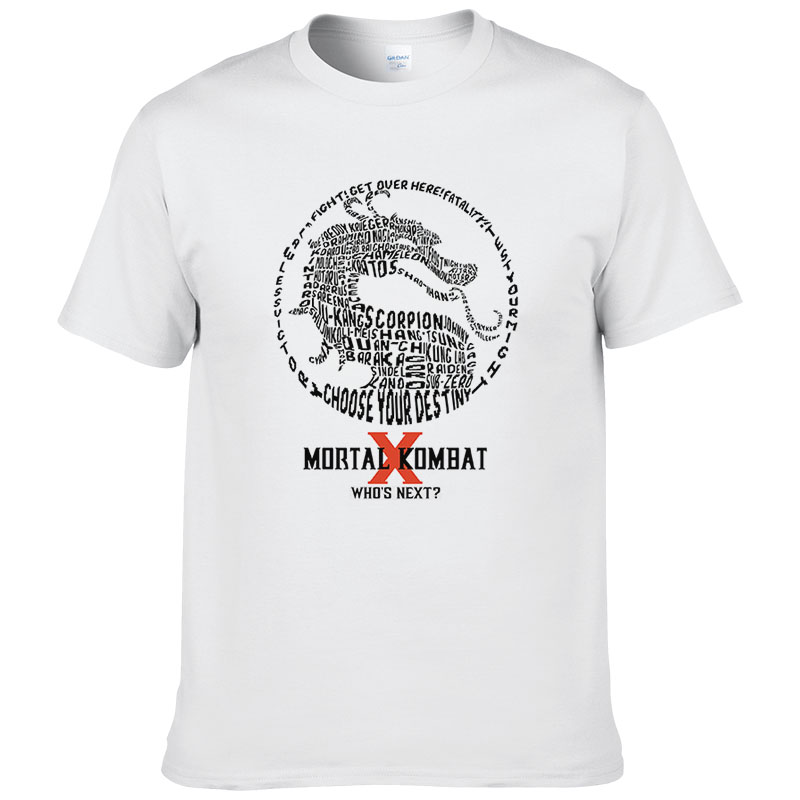 brand Game Mortal Kombat mens hip hop SUB-ZERO MK Dragon   t     shirts   men women camisa masculina fashion male   shirt   #078