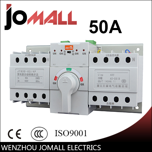 50A 4P new mini type ats Automatic Transfer Switch Rated voltage 220V /380V Rated frequency 50/60Hz 50A 4P new mini type ats Automatic Transfer Switch Rated voltage 220V /380V Rated frequency 50/60Hz