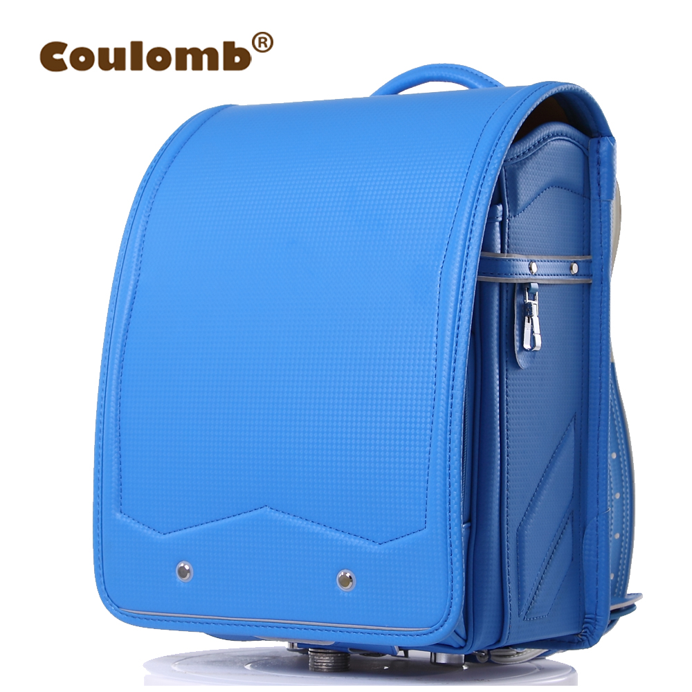 Coulomb Child's Backpack Solid Orthopedic Japanese PU Kid School Bag Hasp Randoseru Bags 2017 New High Quality coulomb princess star backpack for girl school bag orthopedic randoseru japanese pu hasp waterproof baby book bags 2017 new page 6