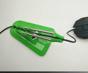 Image 5 - Гибкий Держатель для кабеля мыши, органайзер для кабелей, для игровой проводной машинки для стрижки мыши, разноцветный зажим для провода и шнура