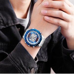 Image 3 - 태양 남자 군사 스포츠 시계 남자 디지털 쿼 츠 시계 전체 철강 방수 손목 시계 relojes hombre 2019 skmei