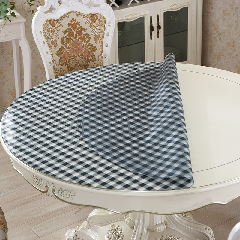 kitchen home anti scald transparent Dining soft glass oil proof floral crystal rectangular PVC placemat mat cover table cloth in Tablecloths from Home Garden